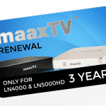 MAAXTV LN4000/5000 - 3 Year Renewal Card / PIN