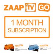 ZAAPTV GO 1 Month Subscription