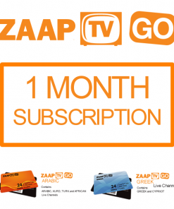 ZAAPTV GO 1 Month Subscription