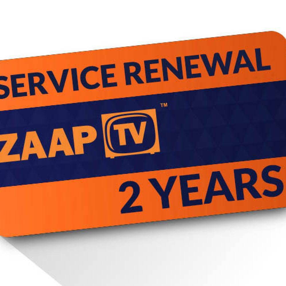 ZAAPTV 2 Year Renewal Card / PIN for Hd409/509 Devices