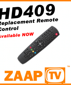 ZAAPTV HD409 Replacement Remote Control