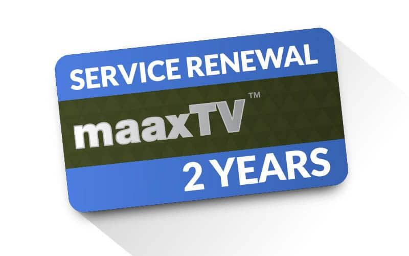 MAAXTV 2 Year Renewal Card / PIN - OFFICIAL SITE - ZAAPTV - ARABIC TV -  GREEK TV - AUSTRALIA & N Z