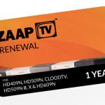 ZAAPTV 1 Year Renewal Card / PIN