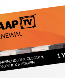 ZAAPTV 1 Year Renewal Card / PIN / Voucher