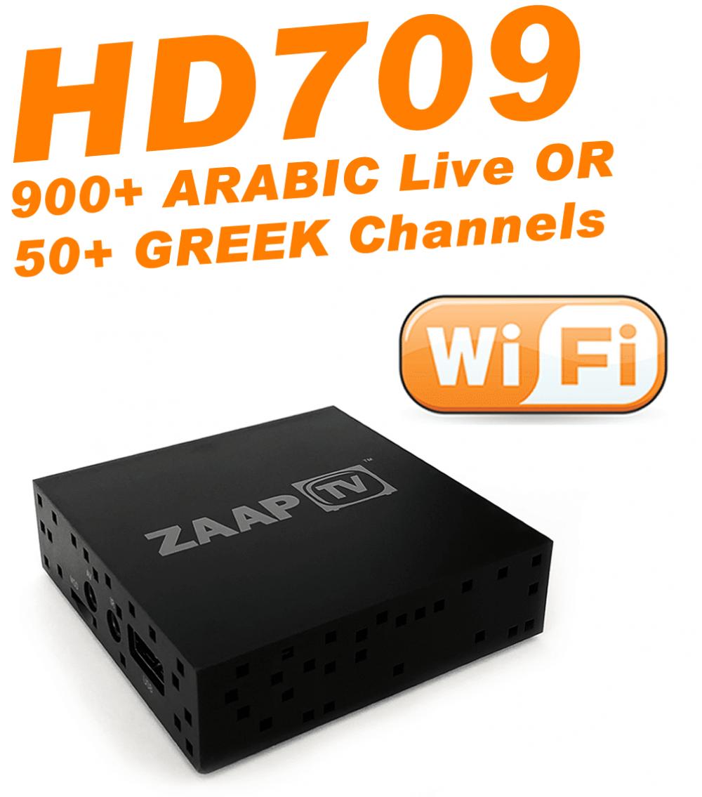 ZAAPTV HD709 - New 2018 Model with External 2.4GHz WiFi Antenna