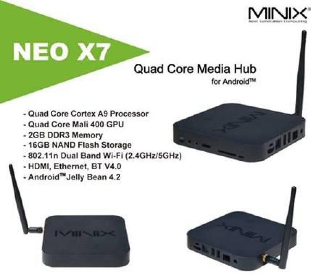 2 GB RAM, 16 GB, WiFi, Android negro MiniX Neo X7 TV Box