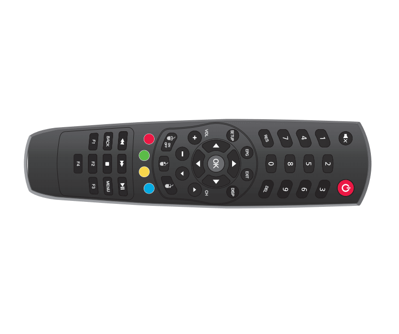 ZAAPTV HD809 Remote Control standard