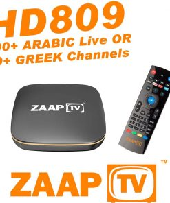 GlobeTV.com.au - ZAAPTV HD809 with 2 Years ARABIC or GREEK